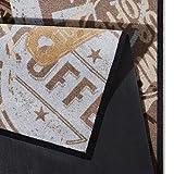 Waschbarer Küchenläufer Coffee Stamp Braun 50×150 cm   102451 - 3