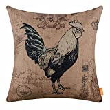 LINKWELL 45,7x 45,7cm Farm Animal Collection Jute Kissenbezug Kissenbezug Standard Cc1510