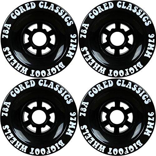 Bigfoot Cored Classics Longboard Rollen, schwarz, 97mm