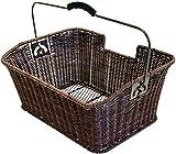 Büchel Fahrrad-Gepäckträgerkorb aus Hochwertigem Polyrattan