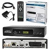 SATELLITEN SAT RECEIVER ✨ HB DIGITAL DVB-S/S2 SET: Microelectronic DVB-S/S2 Receiver + HDMI Kabel mit Ethernet Funktion und vergoldeten Anschlüssen (HD Ready, HDTV, HDMI, SCART, USB 2.0, LAN, S/PDIF und IR Ausgang)