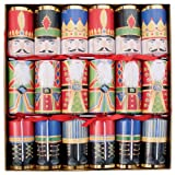 Caspari 12.5-inch Christmas Crackers, Box of 6, Nutcrackers