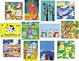 12Stück Kinder Gruß der & Geburtstag Karten