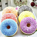 Newin Star Squishy Squeeze Pelota antiestrés al Azar Suave colorés Donut aromáticos Lent Rising Toys Comida Donut Gateau Niñas Adultos