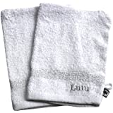 LULU CASTAGNETTE 1820018 - Toalla para lavarse la cara, color blanco