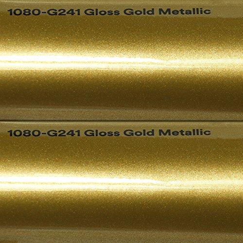 3M Autofolie Scotchprint Wrap Film 1080 gloss G241 gold metallic gegossene Glanz Profi Folie 152cm breit BLASENFREI mit Luftkanäle -