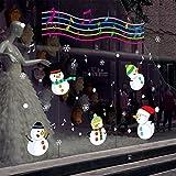 Schneemann-fensteraufkleber,Glas-aufkleber für weihnachten shop dekorative wand-aufkleber weihnachten musik yeti tor aufkleber fensteraufkleber-A 51x43inch