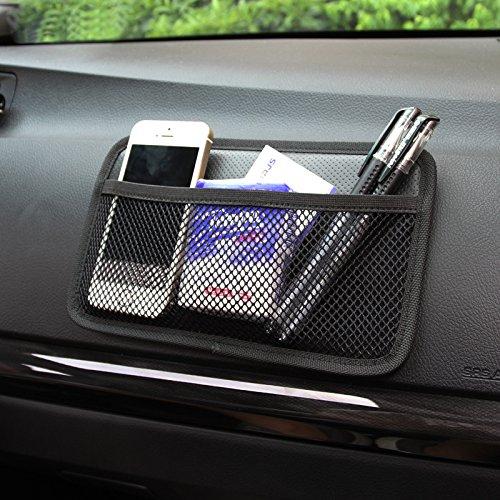 happyle Autotelefon Tasche Auto Taschen Aufbewahrungstasche Paste Typ Nutzfahrzeug Netzbeutel Aufbewahrungsbox Autozubehör