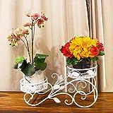 LBMhua Blumenständer aus Eisen Blumenständer aus Blumen für drinnen/draussen Blumenständer für Stehcontainer Moderner und einfacher Blumenständer Blumentopfregal (Farbe : A)
