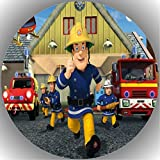 Fondant Tortenaufleger Tortenbild Geburtstag Feuerwehrmann Sam T6
