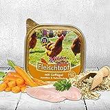 Schecker Dogreform Komplett Menü mit Geflügel (90%), Karotte und Haferflocken 3x200g Hypoallergenes, glutenfreies Nassfutter