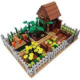 Brigamo Mattoncini da costruzione, per giardino con capanna, 263 mattoncini