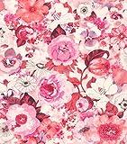 rasch Tapete 803556 aus der Kollektion Lucy in the Sky – Vliestapete mit buntem Blumen-Muster – 10,05m x 53cm (L x B)