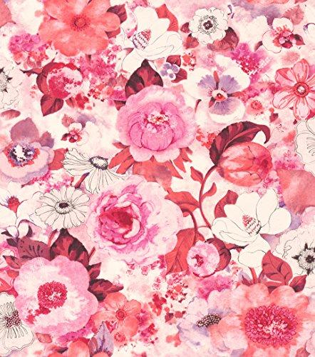 rasch Tapete 803556 aus der Kollektion Lucy in the Sky - Vliestapete mit buntem Blumen-Muster - 10,05m x 53cm (L x B) -