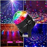 LED Lichteffekte, CroLED Disco Licht Party Licht Bühnenbeleuchtung 3W RGB Bühnenlicht Sprachaktiviertes Kristall Magic Ball Discokugel stimmungslich für Show Disco Ballsaal KTV Stab Stadium Party