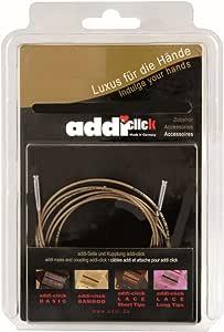 in metallo misura Oine 1 connettore Addi Click Novel 5 cavi Set con punta corta in pizzo 8 PRS