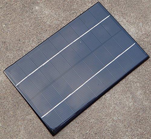 E-3LUE Mini-Solarmodul, zum Laden von Handys, 4,2 W, 9 V, 466 mA, Epoxidzellen
