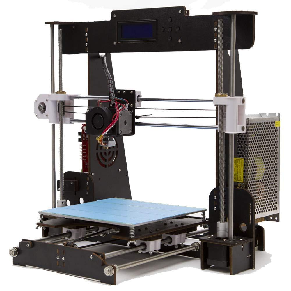 GUCOCO A8 en Bois DIY 3D Imprimante Kits Reprap Prusa i3 Mise À Jour MK8 Extrudeuse 220 * 220 * 240mm Taille d'impression