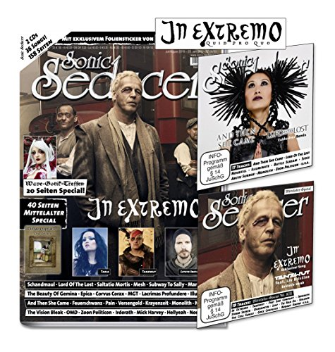 Sonic Seducer 07/08-2016 + In Extremo Titelstory + Mittelalter-Special + WGT-Special + 2 CDs + exkl. Sticker von In Extremo, Bands: Schandmaul, Lord Of The Lost, OMD, Mesh, u.v.m.
