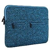 LXOICE Classic Neoprene Laptop Sleeve 15.6 inch Blue