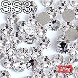 Sindy SS3 (1.3-1.4mm) 3D Nail Art Strasssteine Glänzende Crystal Clear Nicht HotFix Steine Flatback Loose Strass Für Nails Dekoration