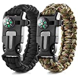 2 Pack Multifunktional Paracord Survival Armband