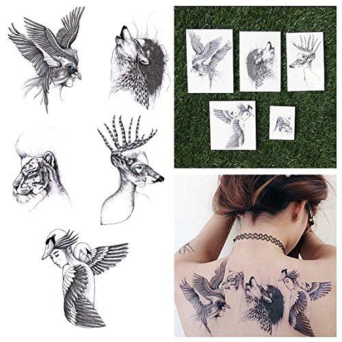 tattify-tatouages-temporaires-surr-aliste-animal-dessin-une-partie-delle-set-de-2