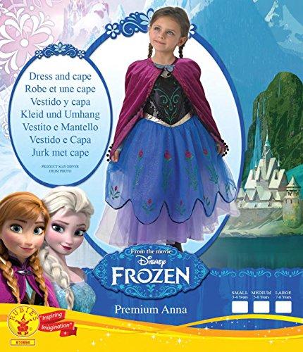 Imagen de disfraz de disney para niños oficial de rubie de la princesa ana de frozen, tamaño mediano alternativa