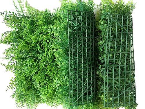 2 Rotolo Artificiale del Recinto, (60Cm × 40Cm) Prato Faux Greenery Privacy Scherma Siepe Verde Sfondo Plastica Giardino Falso Recinzione Mat Pannello Traliccio Parete Decorati,A