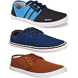 Bersache Men's Combo Pack of 3 Walking Shoes, Gym Shoes, Sports Shoes, Running Shoes, Sneakers Shoes, Loafers Shoes…