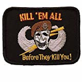 VAN OS Klett-Stoff-Abzeichen KILL'EM ALL -BEFORE THEY KILL YOU Emblem Patch 8,5 x 6,3 cm