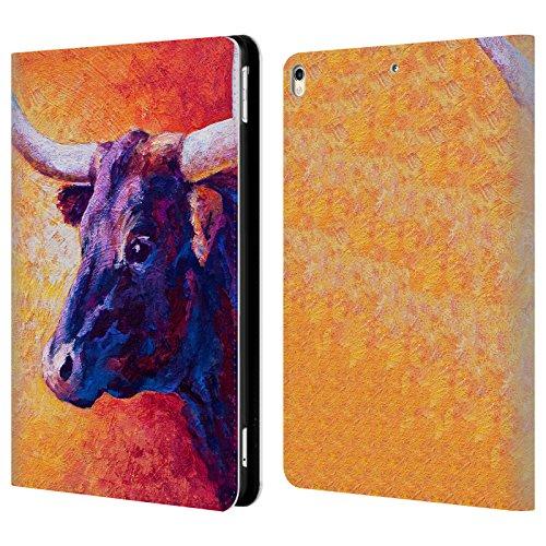 Offizielle Marion Rose Violette Kuh Rinder Brieftasche Handyhülle aus Leder für iPad Pro 10.5 (2017)
