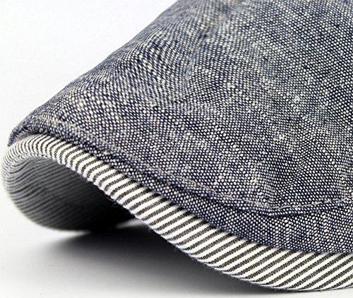 Imagen de leisial sombreros  boinas  de béisbol ocio retro clásico del algodón  de deport hat flat cap primavera verano para hombre azul alternativa
