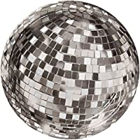 Talking Tables Glitterati Disco Ball Plates for New Years Eve, Weddings and Party, 18cm (12 Pack in 1 design)