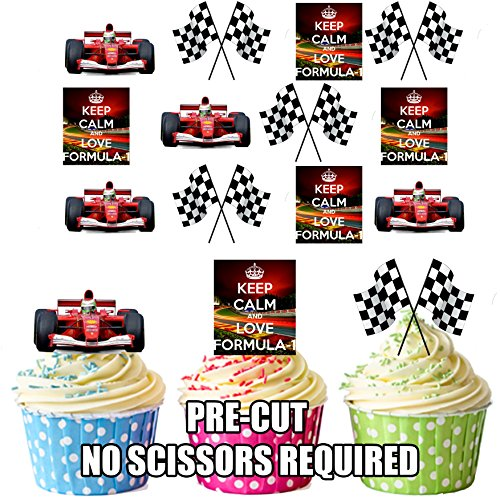 Keep Calm and Love Formula 1 – Cup-Cake-Dekoration essbar stehend (12-teiliges Set) - Bahrain Karte Von