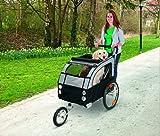 TEFLON® Hunde Fahrrad Anhänger Fahrradanhänger Bis 40 KG belastbar – Hundebuggyfunktion möglich - 2