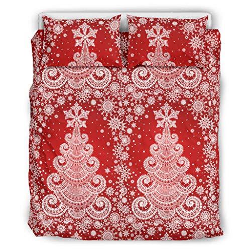 XunYun 3-teiliges Set mit weihnachtlichen Blumen, wasserabsorbierend, U-förmig, Badematte für Badezimmer, weiß, 104x90 inch