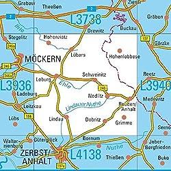 L3938 Loburg Topographische Karte 1:50000: DTK50 Sachsen-Anhalt