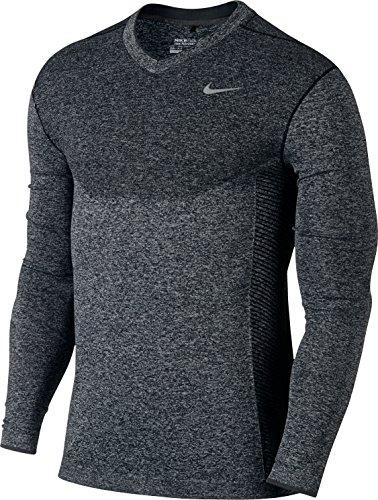 Nike-Scarpe da Golf da uomo in tessuto Dri-Fit a maglia con collo a V, uomo, colore: nero/nero/argento di volo, Donna, taglia: XL