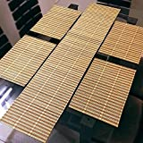 4 Bamboo Dining Table Placemats + 1 Bamb...