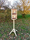 Natural Insect Hotel with Wooden Stand and Bark...
