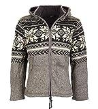 Strickjacke Snowboard-Jacke nordisch mit Fleecefutter, Größe/Size:XS;Farbe:Grau