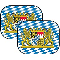 1 Paar Miniboxhandschuhe z f/ür Auto-Innenspiegel 2 St/ück Oktoberfest Rauten blau Mini Boxhandschuhe BAYERN wei/ß B