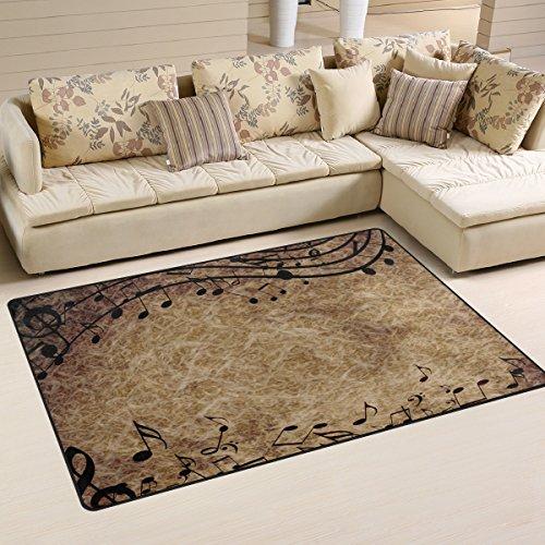 bennigiry Musik Notizen rutschfeste Bereich Teppich Pad Teppichunterlage für harte Böden, rutschfeste Teppich Matte Teppich Untergrund für Wohnzimmer Schlafzimmer 152x 99cm (152,4x 99,1cm)