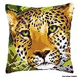 Vervaco PN-0144823 Kreuzstichkissen Leopard