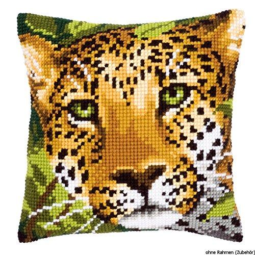 Vervaco PN-0144823 Kreuzstichkissen Leopard (Leopard Kissen)