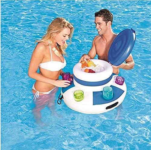 Aufblasbare Getränke Kühler Lounge Wasser Pool Chill Getränke Schwimm Mega EIS Bier Getränk Kühler Sommer Pool Float -