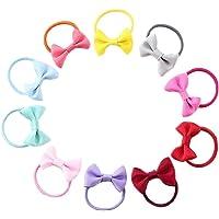 Bobury 10pcs Bowknot élastique Elastiques Cheveux Filles Enfants Noeud Papillon Anneau Cheveux Ornements de Chapeaux de…