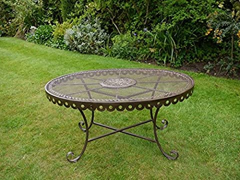 'The Scallop' Rustic Oval Table Suitable For Indoor Or Outdoor Use