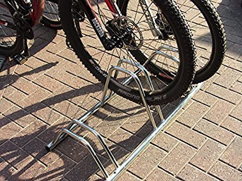 3 Section Dual Height Cycle Rack- Flat Top by Bison Products